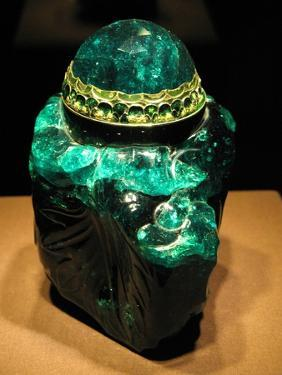 2860-Carat Carved Colombian Emerald