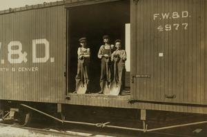 3 Boys in Box Car