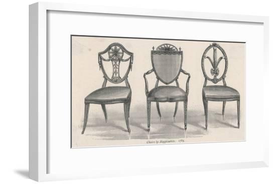 3 Chairs Hepplewhite--Framed Giclee Print