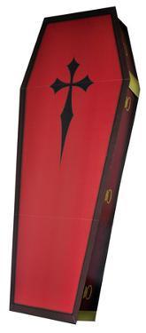 3 Dimensional Coffin Lifesize Cardboard Standup