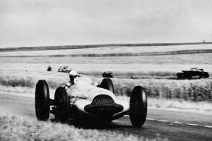 3 Litre Mercedes in Action, French Grand Prix, Rheims, 1938