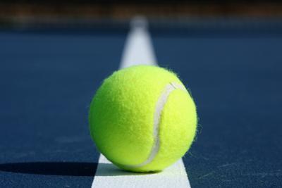 Tennis Ball on a Modern Blue Court by 33ft