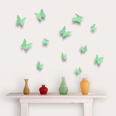 3D Butterflies - Apple Green