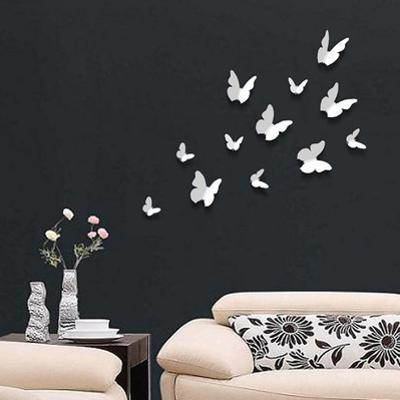 3D Butterflies - White