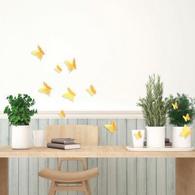 3D Butterflies - Yellow