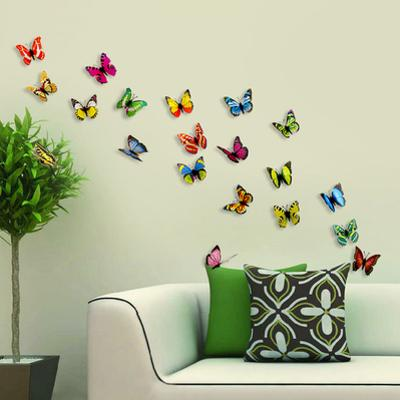 3D Colourful Butterflies - Magnetic/Wall Stickers