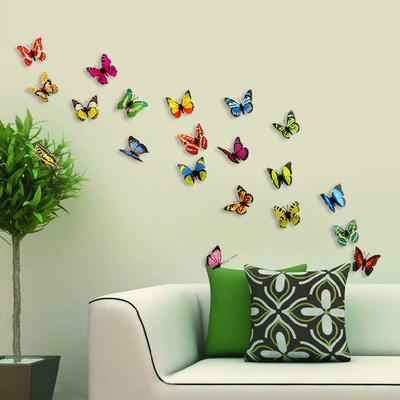 3D Colourful Butterflies   Magnetic/Wall Stickers