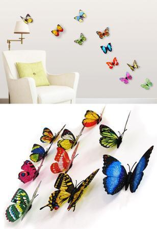 3D Colourful Butterflies Set 2 - Magnetic/Wall Stickers