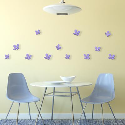 3D Crystal Flowers - Lavender