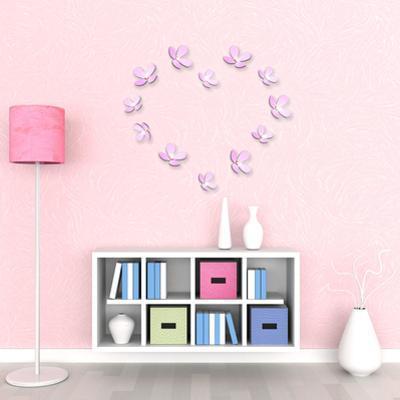 3D Crystal Flowers - Pink