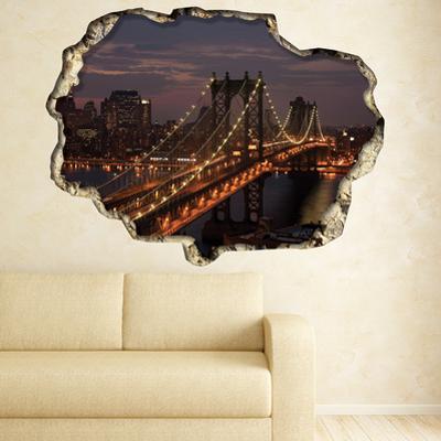 3D Window Manhattan New York Bridge