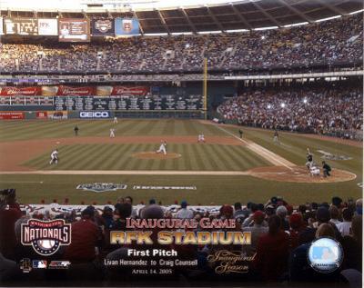 4/14/05 - Inaugural Game RFK Stadium 1st Pitch
