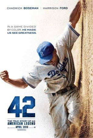 42 (Chadwick Boseman, T.R. Knight, Harrison Ford) Movie Poster
