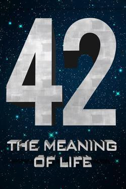42 The Meaning of Life Plastic Sign