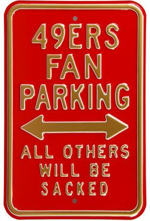 49ers Sacked Parking Steel Sign