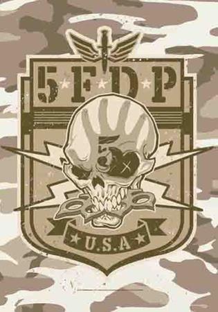 5Ive Finger Death Punch - Camo Skull