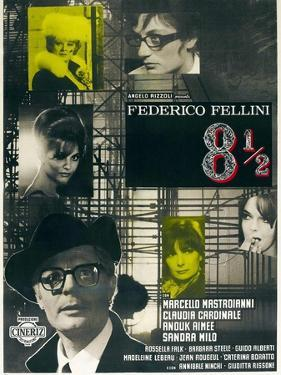 8 1/2, Directed by Federico Fellini, 1963