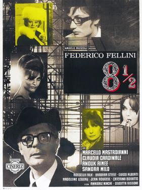 8 1/2, French poster, Marcello Mastroianni, 1963