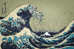 8-Bit Art Great Wave