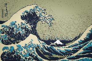 8-Bit Art Great Wave