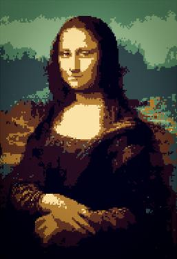 8-Bit Art Mona Lisa