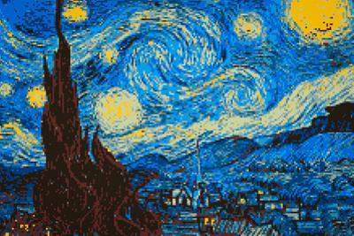 8-Bit Art The Starry Night