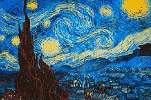 8-Bit Art The Starry Night