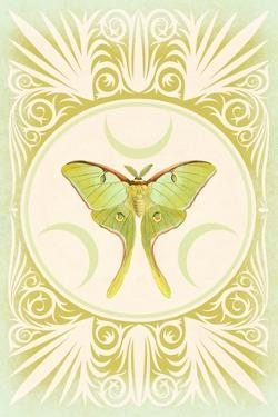 Vintage Luna Moth by 9.0