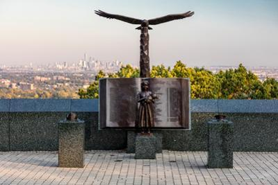 9/11 Memorial Eagle Rock Reservation in West Orange, New Jersey with view of New York City