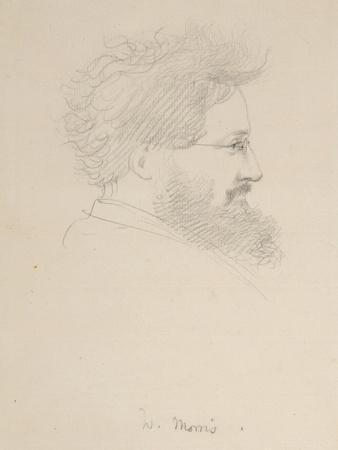 Portrait of William Morris, c.1875