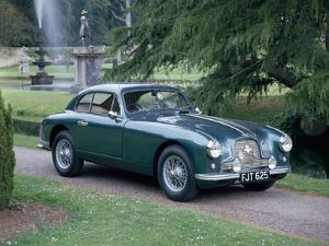 A 1952 Aston Martin Db2 Saloon Car Photographed in a Stately Garden