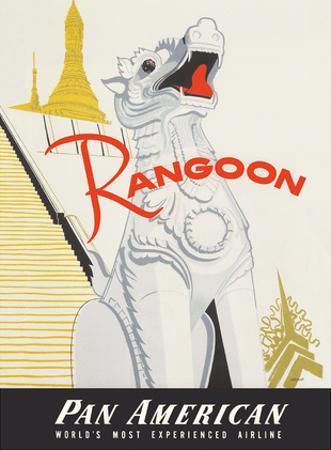 Rangoon (Yangon) Burma - Pan American World Airways - Shwedagon Pagoda by A. Amspoker