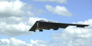 A B-2 Spirit Prepares for Landing