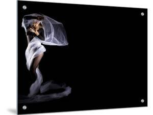 Woman with Veil in Motion by A.B.