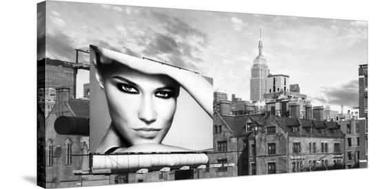 A Billboard in Manhattan-Julian Lauren-Stretched Canvas Print