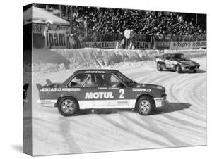 A BMW 325IX During the Chamonix Ice Race, France, 1989