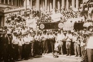 A 'Bonus Army' Demonstrating on Capitol Steps, Summer 1932
