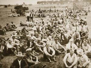 A 'Bonus Army' in Anacostia Park, Washington after Demonstrating, Summer 1932