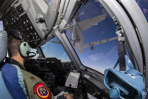 A C-17 Globemaster Iii Approaches a Kc-10 Extender