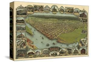 Map of Eureka, California, 1902 by A.C. Noe