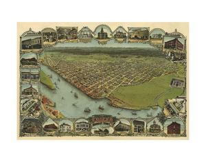 Map of Eureka, California, 1902 by A^C^ Noe