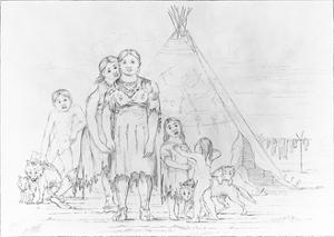 A Camanchee Family after George Catlin