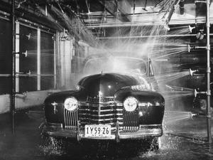 A Car Rolling Through the Car Wash