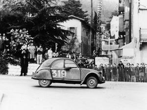 A Citroën 2CV in the Monte Carlo Rally, 1954