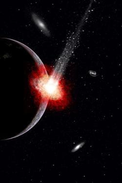 A Comet Hitting an Alien Planet
