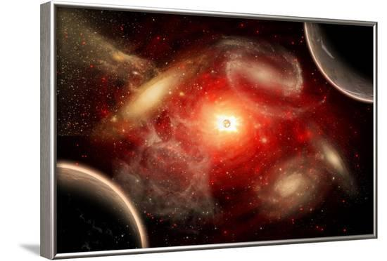 A Conceptual View of Part of Our Vast Universe--Framed Art Print