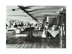 A Copy of a Photograph of the Ward Deck of the Atlas Smallpox Hospital Ship, C1890-C1899