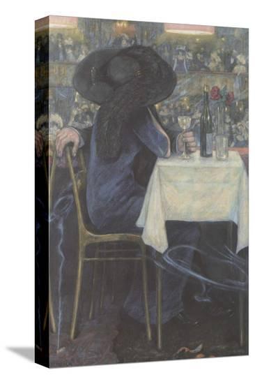 A Couple-Hans Baluschek-Stretched Canvas Print