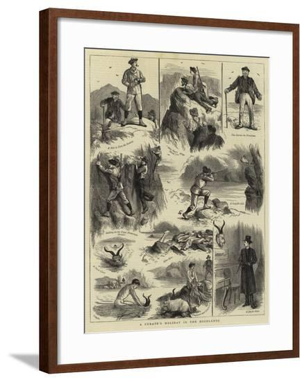 A Curate's Holiday in the Highlands--Framed Giclee Print