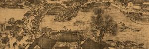 """A Detail of a Scroll Called """"Going Up the River at the Qingming (Spring) Festival"""" by Zhang Zeduan"""